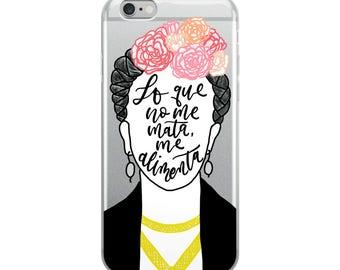 Inspirational Frida Spanish Quote iPhone Case