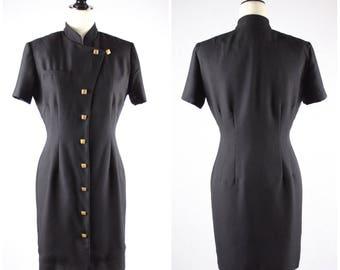 VTG Gold Studded Black Shirt Dress