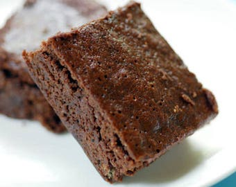 One Dozen of Fudgy Chocolate Cocoa Square Brownies MADE FRESH