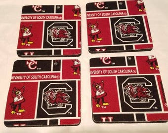 South Carolina Gamecocks 4 Pack Coaster Set