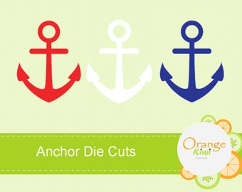Anchor Confetti, Red Navy White Anchor, Scrapbooking, Nautical Die Cuts, Anchor Die Cuts, Nautical Baby Shower, Birthday Party, Table Decor