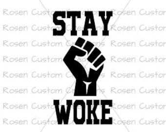 Black Lives Matter SVG. black power. stay woke. stand tall. black history. natural hair