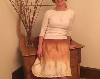 Buttery soft nuno felted skirt