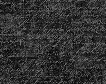 Wilmington Prints - Under A Spell 82515-999 black script  **Half Yard Cuts**