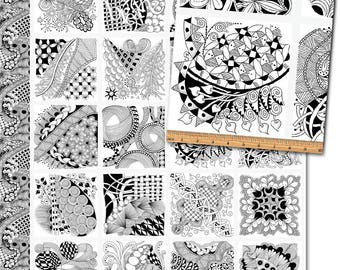 Tangle Time - Panel by Nancy Smith  Contempo