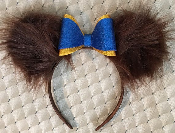 Beast beauty and the beast inspired Disney inspired minnie Mickey Mouse ears