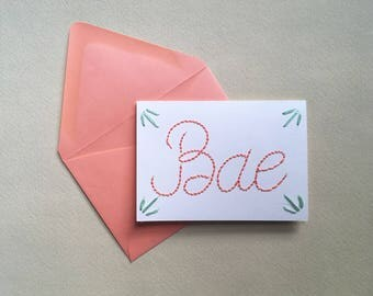 Bae Greeting Card
