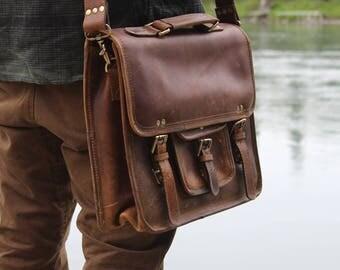 Buffalo Leather Satchel
