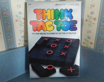 Vintage Think Tac Toe Gamy by Pressman from 1984 Brain Teaser