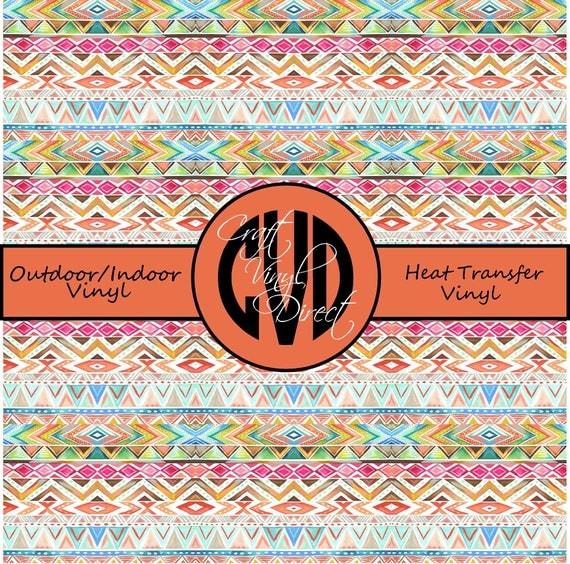 Aztec Patterned Vinyl // Patterned / Printed Vinyl // Outdoor and Heat Transfer Vinyl // Pattern 728