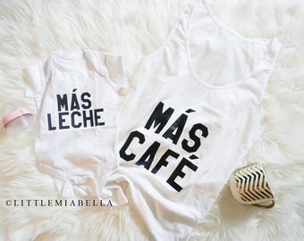 Mas leche shirt, mommy and me outfits, mommy and me, mommy and son, mom and baby, blogger template, mommy and me outfits, matching shirts,