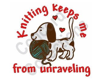 Knitting - Machine Embroidery Design, Dog, Puppy