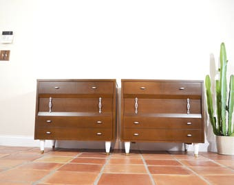 Pair of Mid Century Dressers or Chests