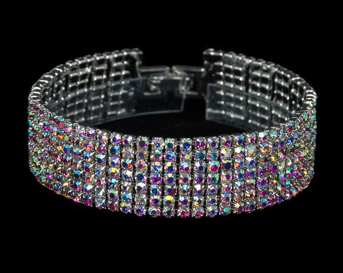 Melissa AB Crystal Competition Bracelet for IFBB, NPC Bikini Fitness Bodybuilding Contests