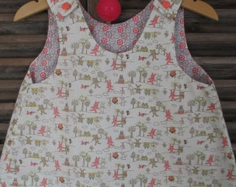 reversible dress and scalable size 3-6 months
