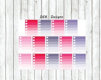 "40% Off Sale Erin Condren ""April Heart Checklist"", 14 total checklist.  Kiss cut on quality matte sticker paper."