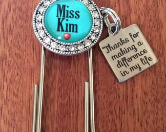 TEACHER BOOKMARK, Bookmark Gifts, Teacher Gifts, Personalized Bookmark, Personalized Teacher Gift, Teacher Bookmark Gifts, Bookmark For Her
