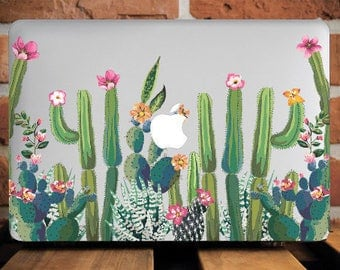 Cactus  Macbook Air 13 Case Macbook Air Cover Macbook Pro Case 13 Succulents Hard Case Macbook 12 Inch Floral Macbook Case 13 Macbook WCm198