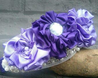 Wedding Dog Collar - Floral Dog Collar - Wedding Dog - Birthday Dog Collar - Ultraviolet  - Ultraviolet Wedding - Cadbury Wedding - Purple