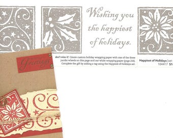 Happiest of Holidays Retired Stampin Up Set of 4