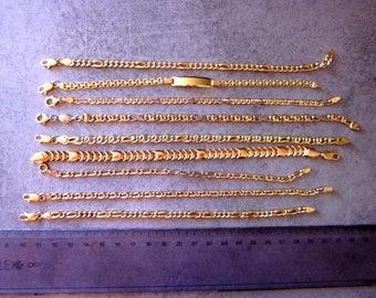 gold bracelets , 18kt gold , 9 bracelets, special offert .
