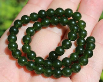 4 ROUND 6 MM AR8 EMERALD BEADS