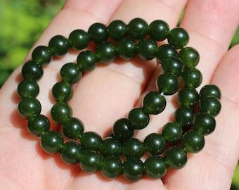 4 round Emerald 6 mm AR8 beads