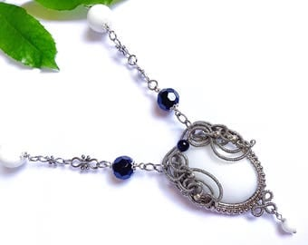 Agate pendant wire wrapped Agate jewelry silver necklace wire wrapped jewelry silver jewelry handmade necklace wire jewelry