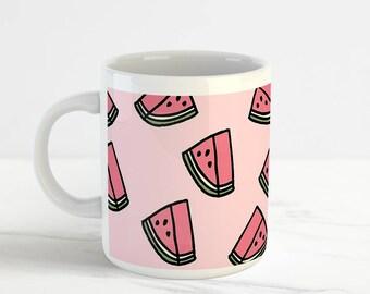Cute Cool Watermelon Mug Cup, Perfect Birthday Gift