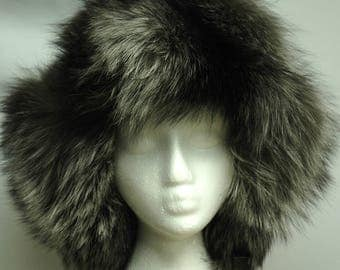 Silver Fox fur hat, chapeau de fourrure
