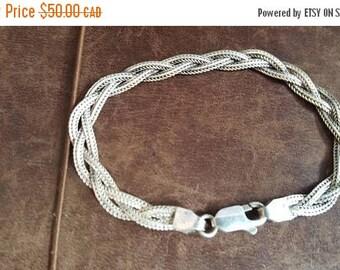 ON SALE Vintage Sterling Silver Bracelet
