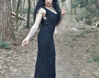 Ripped floorlength dress