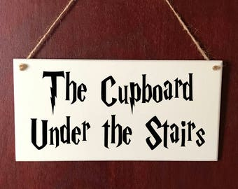 Harry Potter Sign Cupboard Under The Stairs DELUXE Plaque Gift Christmas Present