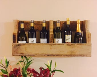 Wall-Mountable Pallet Wine Rack
