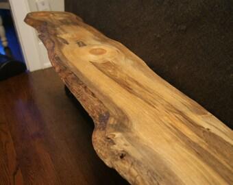 Pipe shelving etsy for Finishing live edge wood
