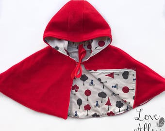Little Red Riding hood Cape/Poncho, Sizes 0 & 1