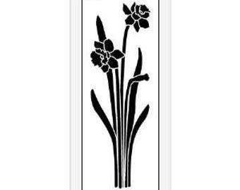 Small Stainless Steel stencil Daffodil Flower Floral Emboss