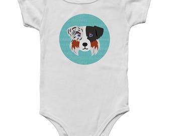 Adorable Australian Shepherd Inspired Baby Onesie!