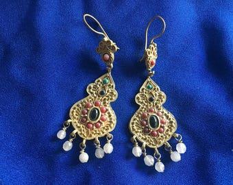 Nomadic Gold Jeweled Earrings