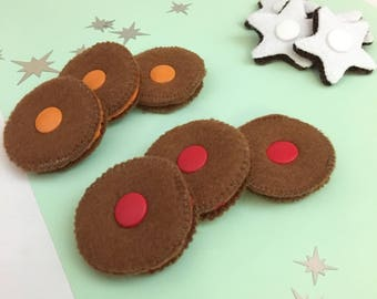 Christmas cookie fabric crackers to assemble, educational dinette, sensory play, dinner table, kids gift