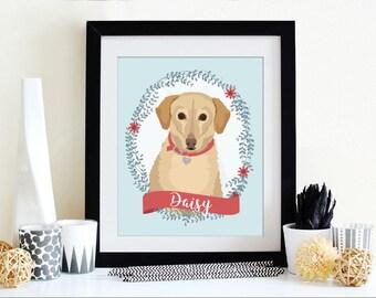 Custom Dog Portrait Illustration Custom Pet Portrait Dog Portrait Custom Illustrated Dog Portrait Personalized Pet Memorial Dog Memorial