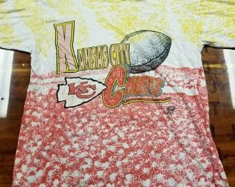 Vintage XL Kansas city chiefs shirt, vintage nfl shirt