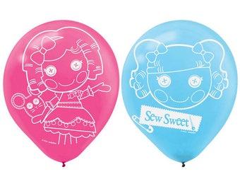 6ct. LALALOOPSY Printed Latex BALLOONS Birthday Party Supplies Decorations