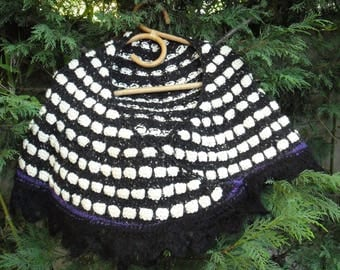 SHAWL stole black and white