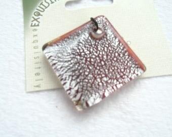 Dichroic Glass Diamond Shaped Pendant, 50 mm x 50 mm x 5 mm (2120)