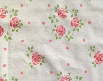 Set of 2 Matching Vintage Pillowcases Sweet Pink Roses
