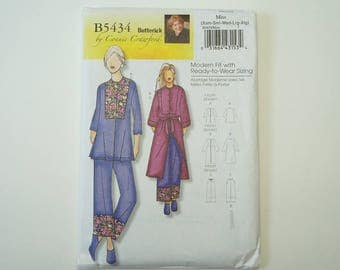 Butterick B5434 Misses' Top, Robe, Belt And Pants Paper Sewing Pattern Size XS S M L XL Uncut design by Connie Crawford