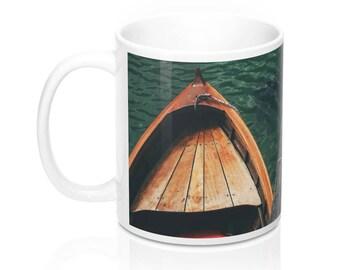 Docked Boat Coffee Mug, 11 Ounces