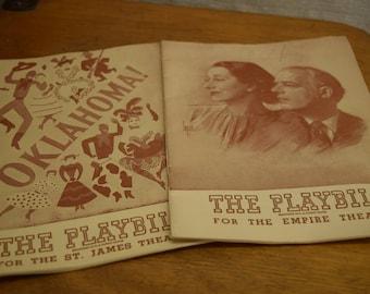 The Playbill For O Mistress & Oklahoma