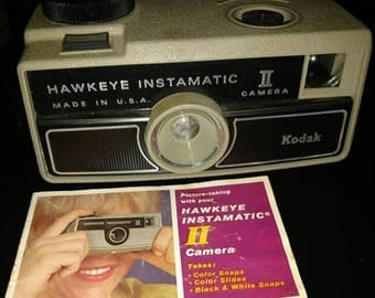 On Sale 1970's vintage Kodak camera? Hawkeye TI. 126 film camera. With instructions